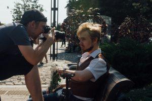"""Павел Гурьев и Андрей Соболь на съёмках клипа """"Моя тёлка анимэ"""""""